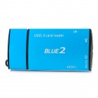 CR805 USB 3.0 MS / M2 / Micro SD / SD (XC) Card Reader - Cyan + Schwarz