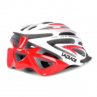 Laplace A5 Outdoor Sports Cycling Helmet w/ Channeled Vents - White + Red