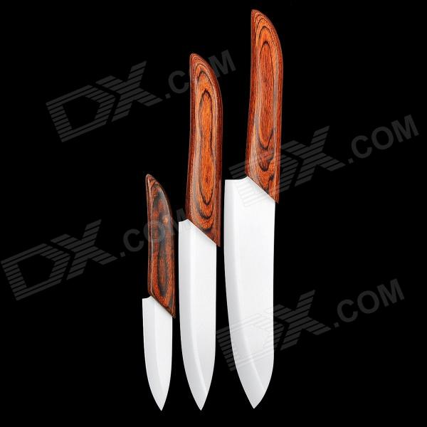 "0921200 3"" + 4"" + 5"" Kitchen Ceramic Knives Set - White (3 PCS)"
