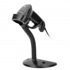 HONGZHAO HZ2012 Wired Handheld Laser Barcode Scanner w/ Stand - Black