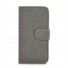 Cool Denim Style Protective PU Leather Case for Iphone 5 - Black