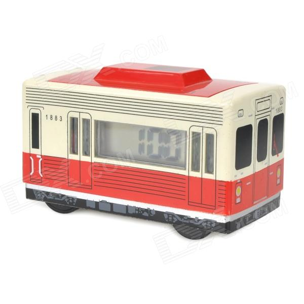 Retro LED Display Bus Style Auto-turning Alarm Clock - Red (1 x AAA)