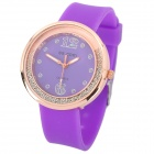 R9126 Silicone Band Analog Quartz Wrist Watch for Women - Purple (1 x 377)