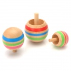 Children's Educational Toys Spinning Top Wooden Gyro (3 PCS)