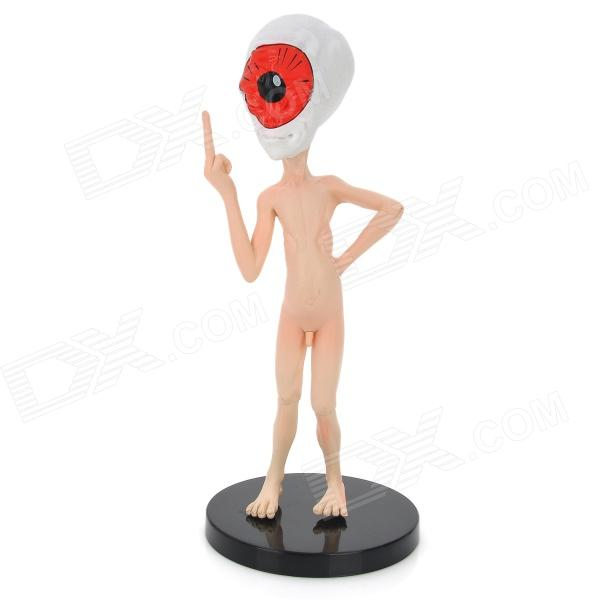 WX04 Shot-in-the-head Nude Alienware Doll Toy - White + Red