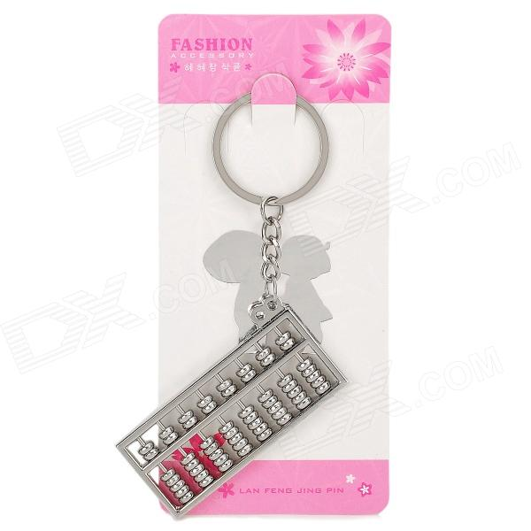 Stainless Steel Mini Abacus Counting Frame Keychain - SilverKeychains<br>Form  ColorSilverPacking List<br>