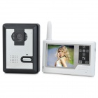 "SY359MJ11 3.5"" TFT 2.4GHz Waterproof Wireless 300KP Digital Video Door Phone w/ Night Vision - White"