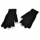 ST-3 Capacitive Screen Hand Warmer Touching Touch Gloves for iPhone 5 / iPad Mini - Black (2 PCS)