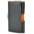Waist Flip-Open PU Leather Case for Iphone 3gs / 4 / 4S - Black