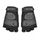 Boulder FL-X-204 Outdoor Cycling Riding Half Finger Gloves - Black (Free Size / Pair)
