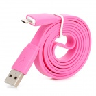 USB Data/Charging 8-Pin Lightning Flat Cable for iPhone 5 / iPad 4 / iPad Mini - Pink (100CM-Length)
