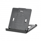 Portable Foldable Plastic Desktop 5-Level Stand Holder for iPad + More - Black