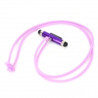 FY-G-06 Dual-Head Stylus w/ Dock Connector + Silicone Neck Strap for Iphone 4S / Ipod - Purple