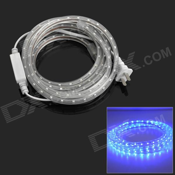 4.8W 240lm 475nm 1-SMD 3528 Blue Decoration Light Strip (2m-Cable / 2-Flat-Pin-Plug / AC 220V)