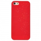 Cute Paw Print Style Protective TPU Back Case for Iphone 5 - Red