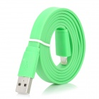 USB to 8 Pin Lightning Flat Charging + Data Cable for iPhone 5 / iPad Mini - Green (100cm)