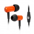 Wallytech WHF-110 Stylish In-Ear Stereo Earphones w/ Microphone for iPhone 5 - Orange + Black