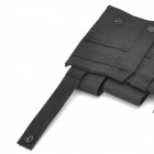 Waterproof Canvas Three-Pocket M4 Ammunition Pouch - Black