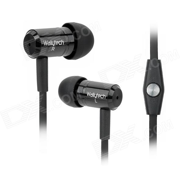 купить Wallytech WHF-110 Noodle Shape Stereo In-Ear Earphones for Iphone 5 - Black недорого