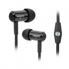 Wallytech WHF-110 Noodle Shape Stereo In-Ear Earphones for iPhone 5 - Black