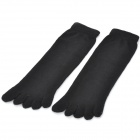 Man's Cotton Toe Socks - Black (Pair)