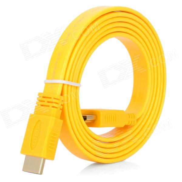 HDMI V1.4 Male to Male Flat Connection Cable - Yellow (150cm) hdmi v1 4 male to male connection cable w 2 hdmi adapters black 150cm