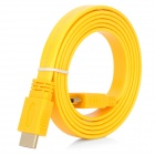 HDMI V1.4 Male to Male Flat Connection Cable - Yellow (150cm)