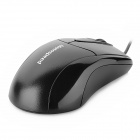Motospeed F-373 USB à moda 1200DPI Optical Mouse - Preto