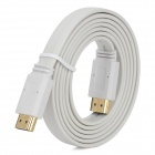 HDMI V1.4 Male to Male Flat Connection Cable - White (150cm)
