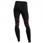 Bicycle Riding Sports Suit Pants Pantalones con Cojín Negro + Rojo (Talla L)