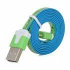 8 Pin Lightning Male to USB Male Data Flat Cable for iPhone 5 / iPad 4 - Green (100cm)