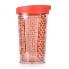 Creative Labyrinth Shape PP + PS Water Drinking Cup w/ Matte Cover + Steel Ball - Red (350mL)