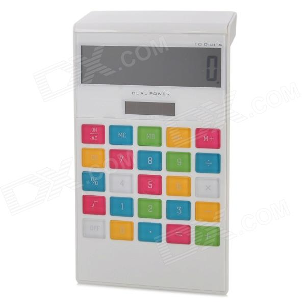 AQ336C 3.8 LCD Display Solar Powered 10-Digit Pocket Calculator - White (1 x LR44) 2pcs colorful pocket solar power calculator