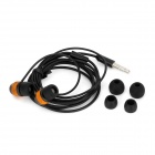 D9 Aluminiumlegering bostäder In-Ear hörlurar - svart + Orange (3.5 mm Plug / 125 cm-kabel)