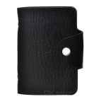 Fashionable Artificial Leather 24-in-1 Bank Card Case - Black
