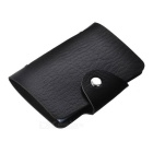 Modische Kunstleder-24-in-1 Bank Card Case - Schwarz