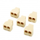 RJ11 Female One to Two Adapters Set - Ivory (5 PCS)
