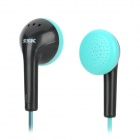 SSK EP-C001 Mega Bass Stereo-In-Ear Earphones - Black + Light Green (3,5 mm Stecker / 120cm-Kabel)