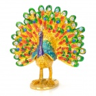Colorful Tail Flaunting Peacock Style Handicraft / Casket / Decoration