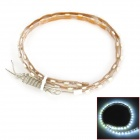 1.5W 6000K 360lm 45-SMD 3528 LED White Light Flexible Lamp Strip Motorcycle (DC 12V)