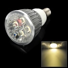 E14 4W 450lm 3500K 4-LED Warm White Light Spotlight Bulb - Silver (85~265V)