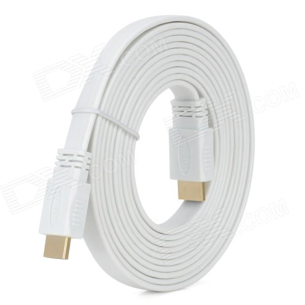 HDMI V1.4 Male to Male Flat Connection Cable - White (300cm)