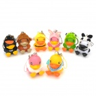 Novelty B.Duck Key Ring Toy Set - Multi-Colored (8 PCS)