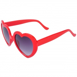Heart Style Fashionable Lady's UV400 Protection Sunglasses - Red