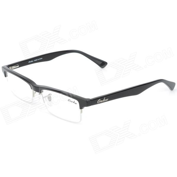 What Are Half Frame Glasses Called : OREKA 011 Retro Half-frame Resin Lens Glasses - Black ...