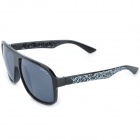 OREKA XM7011 Fashion PC Lens Sunglasses - Black + Grey