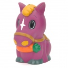 111 Star Horse PVC Coin Saving Bank Money Box - Violet