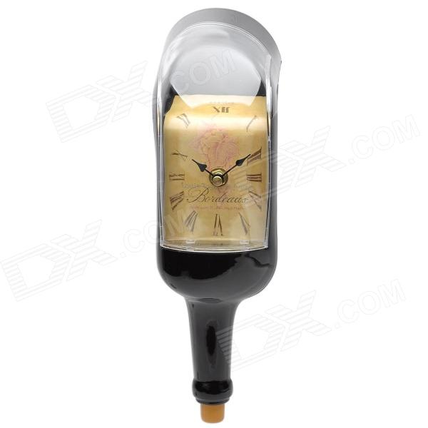 Creative Bent Wine Bottle Wall Clock - Brown + Yellow аксессуар заспинный колчан bowmaster tento ref yellow brown 277