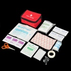 Outdoor-11-in-1 Emergency First Aid Kit Bag - Red