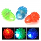 Strawberry Shaped 3-LED Red / Orange / Blue Flashing Light Finger Rings (3 PCS)